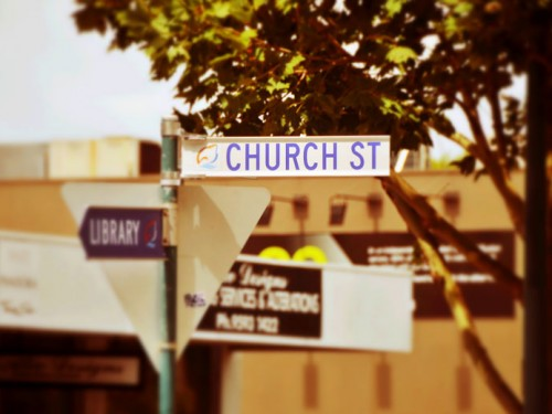 Church Street Brighton Street Sign