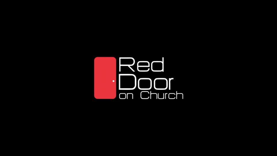 Red Door On Church