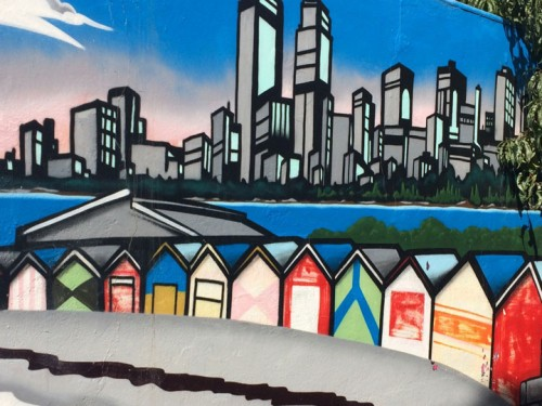 Church Street mural: Brighton Beach Houses