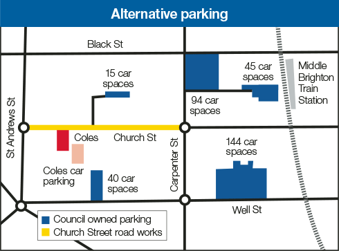 Church Street Brighton : Alternative parking