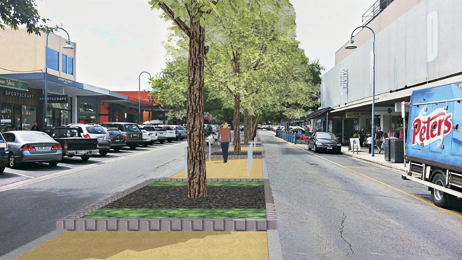 Artist Impression: Church Street brighton median upgrade