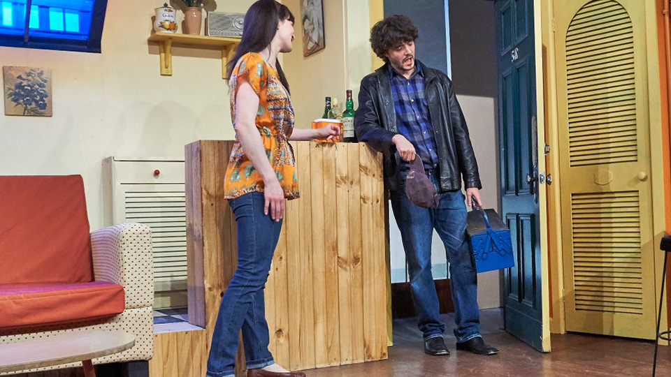 Actors on stage in Brighton Theatre Company's show Barefoot in the Park.
