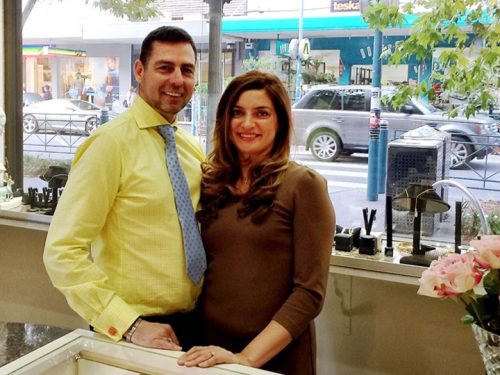 Autumn Gallery Jewellery manager Leigh Brimley and his wife Sharlene Duckworth.