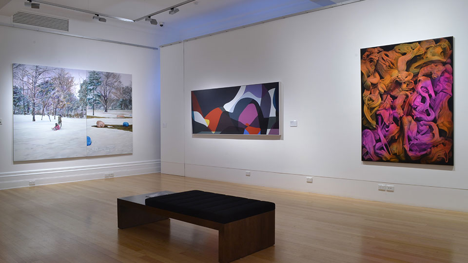 Installation view of the Bayside Acquisitive Art Prize 2015