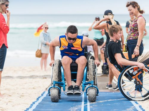 Accessible Beach Day comes to Brighton. Image: Bayside Council.